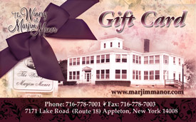 Gift certificates are available at  the Winery at Marjim Manor.