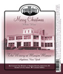 Merry Christmas 100 Windows wine label