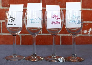 Personalized Wine Glasses Personalized Wine Labels For